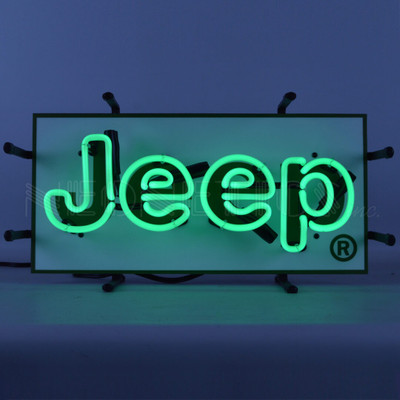 Jeep Green Junior Neon Sign