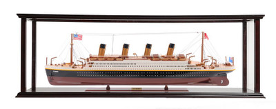 Titanic Medium Ocean Liner Painted Display Case