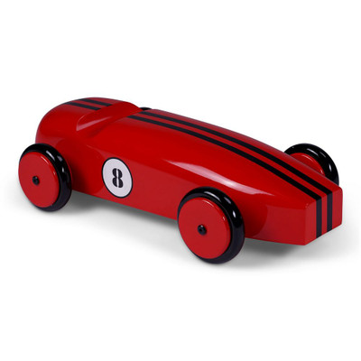 Wood Model Car in Red