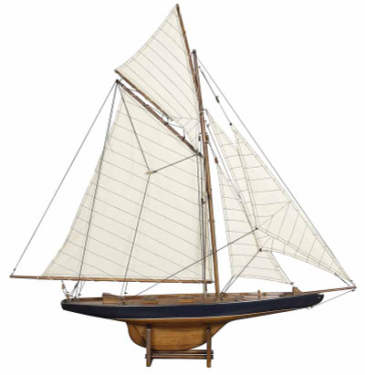 Authentic Models 1901 America's Cup Columbia Small Sailboat