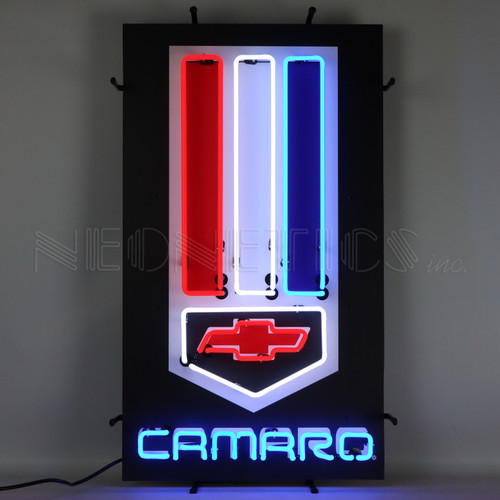 Camaro Red, White and Blue Neon Sign