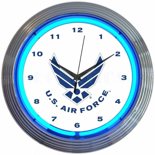 Neonetics United States Air Force Neon Clock