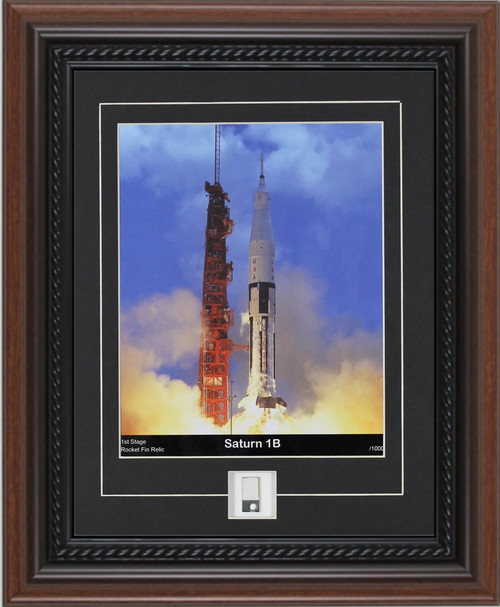 Century Collection Saturn 1B Print with Rocket Fin Piece