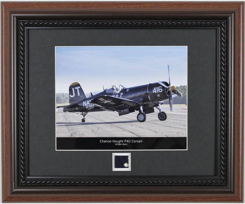 Century Collection F4U Corsair Framed Print with Metal Skin