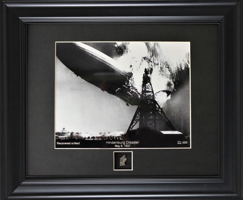 Hindenburg Disaster Print with Authentic Metal Relic