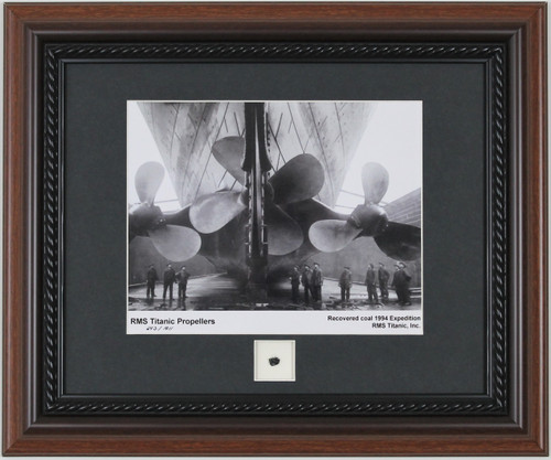 Titanic Propellers Print with Recovered Coal Piece