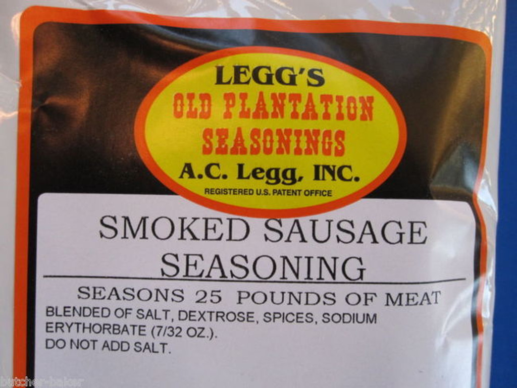 Traditional Smoked Links Sausage Seasoning for 50 LBs of meat from AC Legg