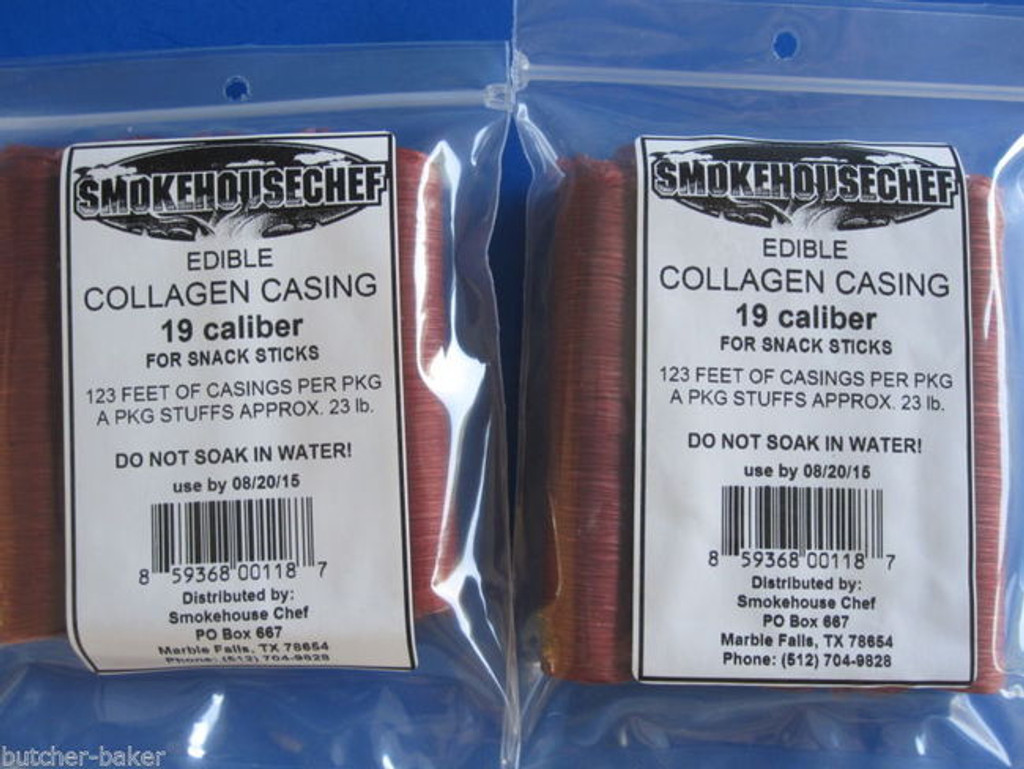 SNACK STICK SEASONING and CASINGS for 50 Lbs of venison, beef, elk etc.  19mm
