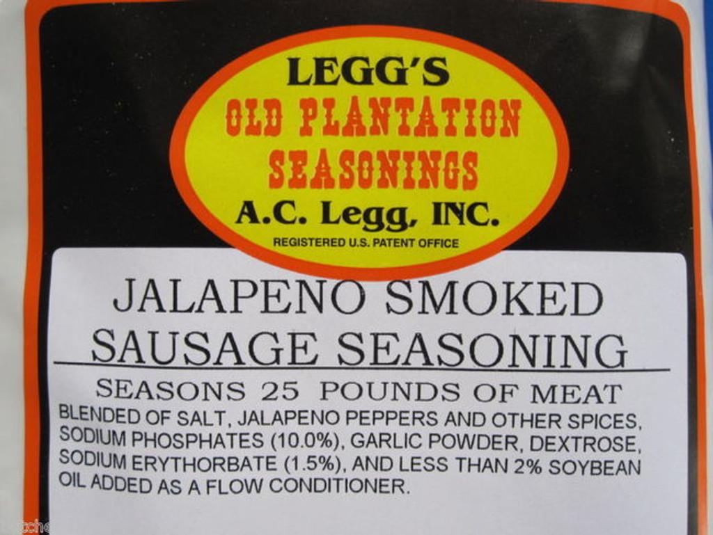 JALAPENO SMOKED LINKS Sausage Seasoning 100 lb w/Cure for Venison Pork Elk Beef