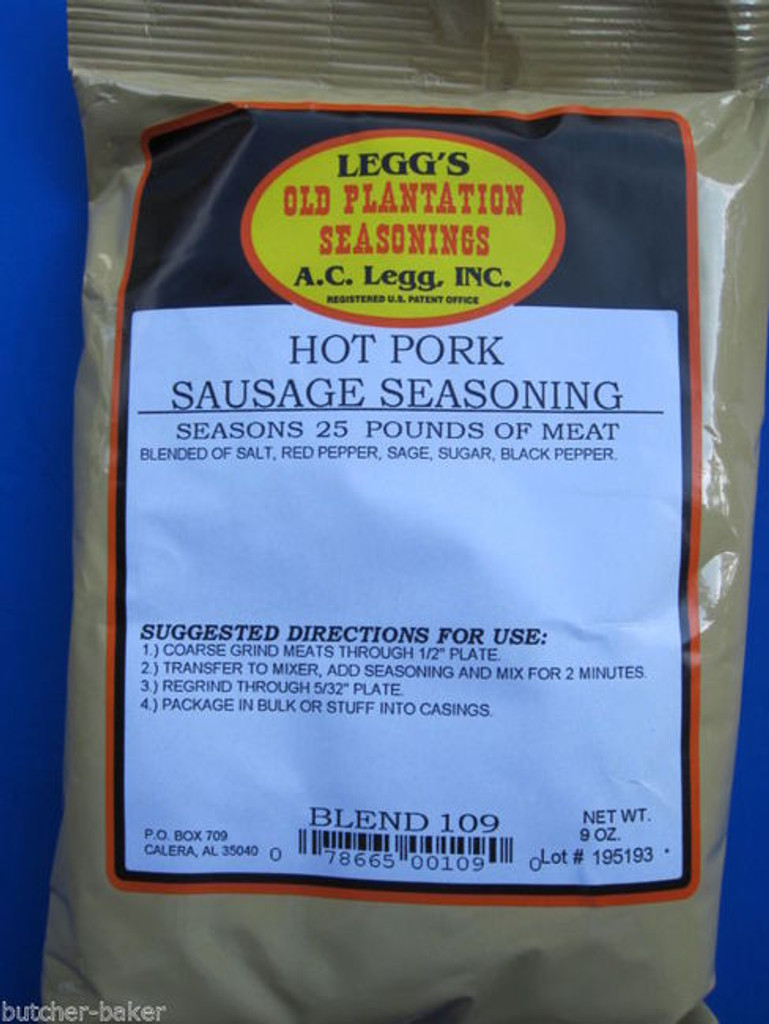 HOT PORK Breakfast Sausage Seasoning Spices for 25 lbs