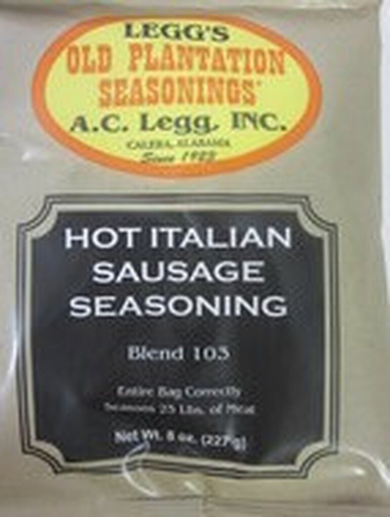 HOT ITALIAN Sausage Seasoning for 50 Lbs of Links or Ground   *Favorite Recipe*