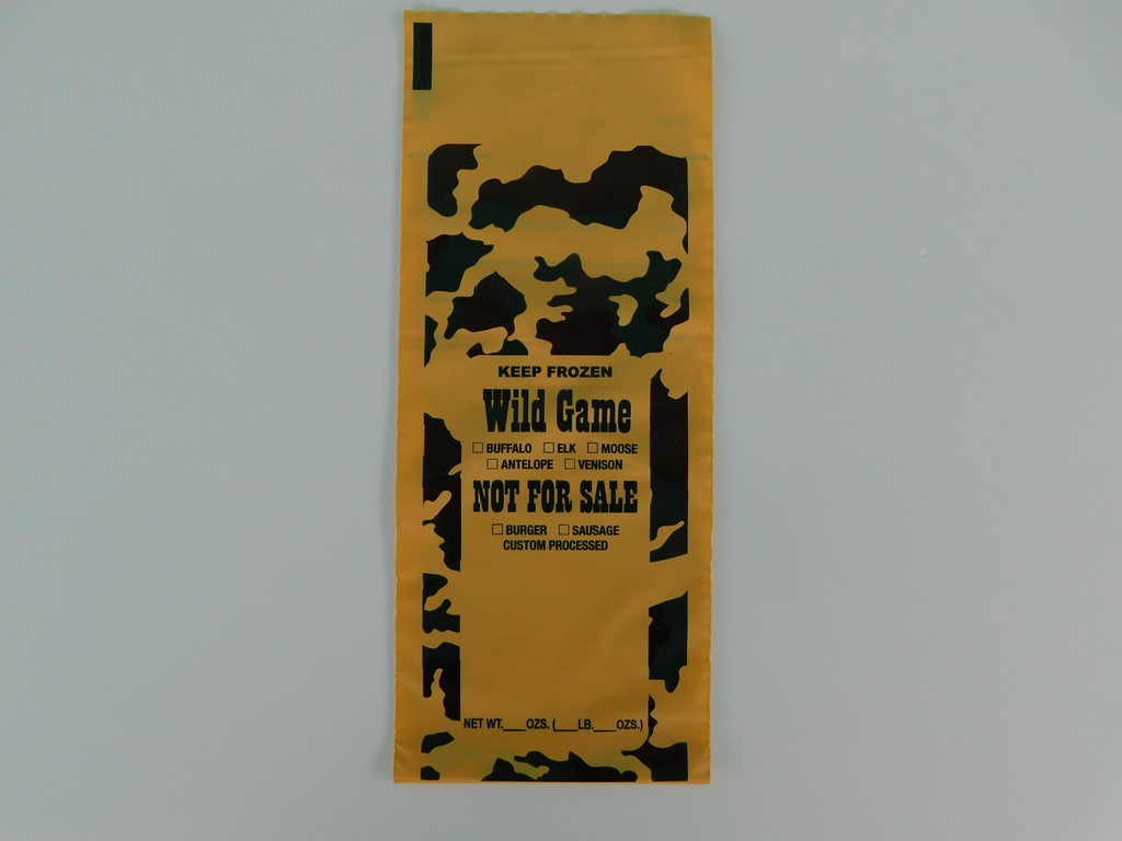 Freezer Bags.  100 ct.  1-Lb capacity for all wild game meat.  Burger Sausage