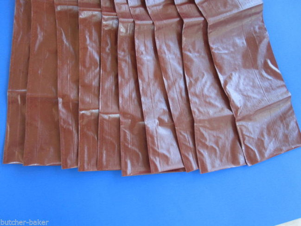 25 x 1 lb ea FRESH Homemade SUMMER SAUSAGE Fibrous CASINGS Stuffing Sleeve Skins