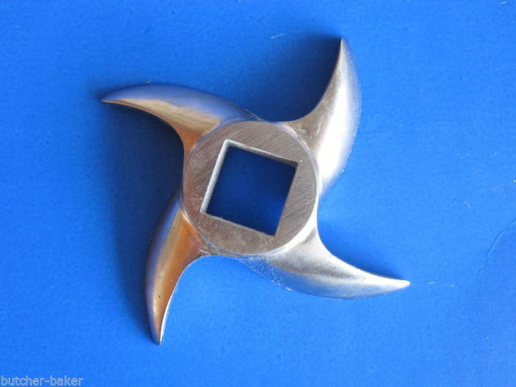 *TWO*  #12 l Meat Grinder Knife Blade Cutter for Hobart MTN Cabela LEM etc.