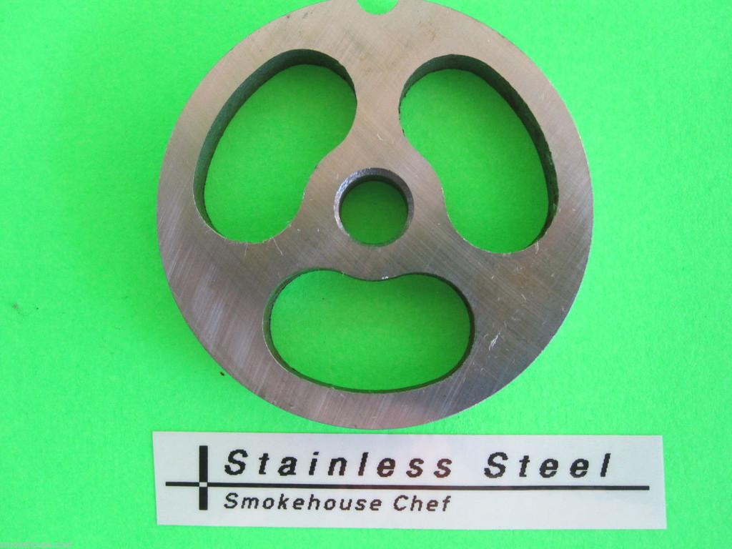 3-hole Size #8 Sausage Stuffing Kidney plate disc meat grinder LEM Cabelas etc