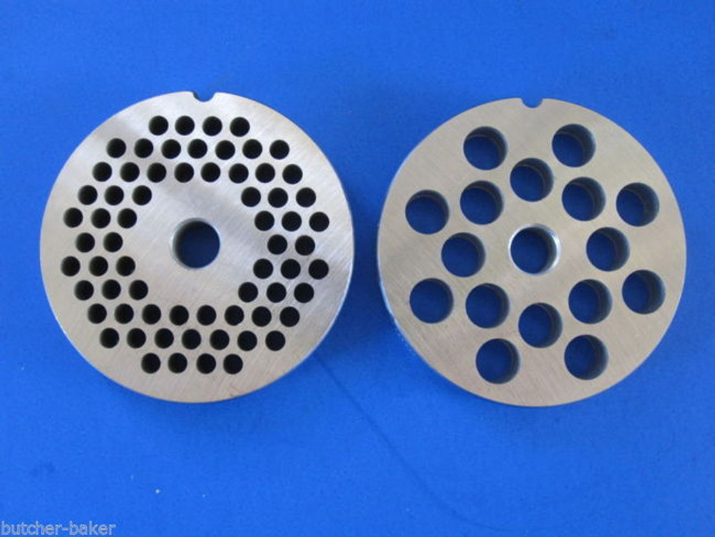 #22 *TWO* Enterprise Meat Grinder plates discs screens fits Hobart & Others
