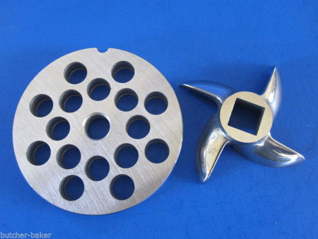 """#12 x 3/8"""" PLATE & SWIRL KNIFE S/S Meat Grinder Grinding SET"""