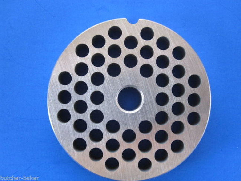 """#12 x 1/4"""" holes STAINLESS Meat Food Grinder Mincer Chopper plate disc screen Hobart 00-016425-00002"""