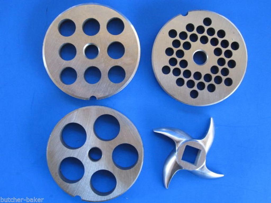 """#12 (2 3/4"""") 4-PAK PLATE KNIFE Disc Meat Grinder fits LEM Universal Hobart etc"""