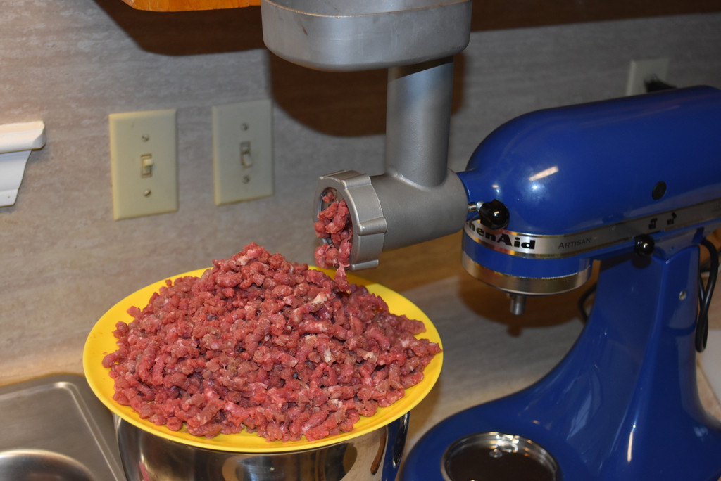 Stainless Steel Meat Grinder attachment for Kitchenaid.  Heavy duty Culinary school version