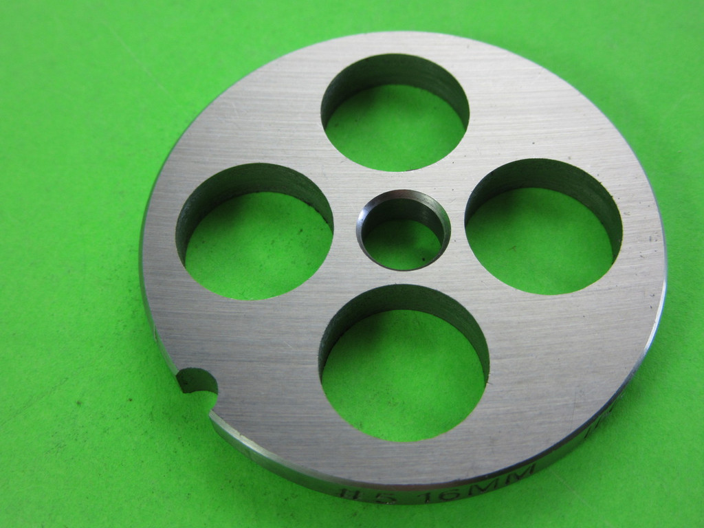 "#5 x 5/8"" hole plate.  Stainless Steel"