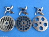 #22 6 pc VARIETY Meat Grinder plate disc knife cutter for manual or electric