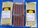 19mm CASINGS and SNACK STICK SEASONING for 50 Lbs of venison, beef, elk etc.  19mm