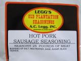 HOT PORK for 100 LBS  BREAKFAST Sausage Seasoning Old Plantation Brand *THE BEST
