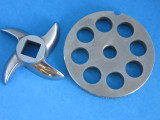 """#8 x 1/2"""" DISC PLATE & KNIFE Meat Grinder Grinding SET *Stainless Steel*"""