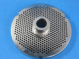 """#52 stainless steel plate with hub.  1/8"""" fine grind holes"""