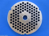 """#32  x 1/4"""" (6mm) STAINLESS Meat Grinder Plate for Hobart 4332 4532 TorRey more Replacement Part 00-108582-00002"""