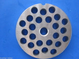 """#22 x 3/8"""" holes STAINLESS Meat Food Grinder Plate Disc Hobart TorRey LEM etc replaces Hobart 00-016433-00002"""