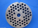 """#22 x 1/4"""" holes STAINLESS Meat Food Grinder Plate Disc Hobart TorRey LEM etc replaces Hobart 00-016432-00002"""