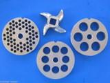 #22 SET Hobart LEM Cabelas Enterprise Meat Grinder plates discs & KNIFE blade