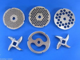 #22 6 pc SET Meat Grinding plate sausage stuffing disc knife cutter Hobart etc
