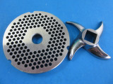 """#42 x 1/4"""" (6mm) large burger grind.  Plus new swirl design stainless meat grinder blade"""