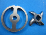 #5 Meat Grinder Kidney sausage stuffer plate AND KNIFE Smokehouse Chef meat grinder