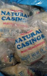 COMBO  4) large packs of Sheep casings + 4) Large packs of Hog casings.