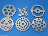 6 pc. SET Meat Grinder plate disc and knife for electric Rival Sunmile Deni