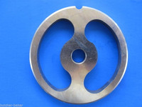 #22 Stainless Meat Grinder Sausage Stuffing Stuffer Kidney Plate & 2 Knives