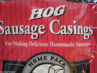 3-PAK Natural Hog Pork Sausage Stuffing Skin Casings Casing for 75 lbs or meat