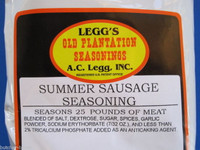 SUMMER SAUSAGE Seasoning Recipe for 100 lbs w/ Cure pak