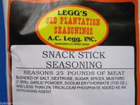 SNACK STICK SEASONING for 50 Lbs Beef Elk Deer Sausage Slim Jims or Pepperoni
