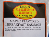 MAPLE for 100 LBS  Breakfast Pan Sausage Seasoning Spices Venison Pork Deer etc