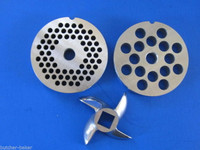 "COMBO KIT #12 (2 3/4"")  Meat Grinder plates discs & KNIFE blade for Hobart etc"