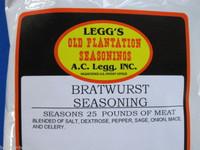Bratwurst Sausage Seasoning Spices for 25 LBs Venison Pork Deer Beef Links etc