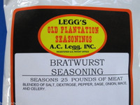 Bratwurst Sausage Seasoning for 50 LBs of Venison Pork Deer Beef Links etc