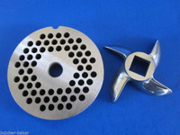 """#8 x 3/16"""" PLATE & SWIRL KNIFE S/S Meat Grinder Grinding SET"""