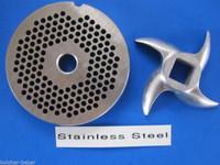 "#8 x 1/8"" Fine Grind PLATE & KNIFE Meat Grinder Grinding SET *Stainless Steel*"