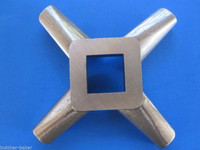 "#22 x 1/4"" hole STAINLESS Meat Grinding Grinder Plate disc & Cutter Knife"